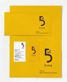 Graphic design inspiration | Fifth Branding I like the use of limited color