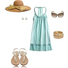 Island/Beach Style!  Great for walking around town/casual lunch.  Sunglasses are a little out of the price range, but you get the idea. :)