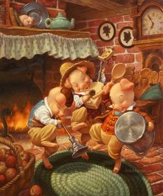 Scott Gustafson Three Little Pigs