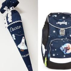 School bag space shuttle, matching the cob hicus, rocket, universe, stars - Modern Best Meatballs, Space Fabric, Sew Mama Sew, First Day School, Star Images, Space Shuttle, Kid Names, School Bags, Golf Bags