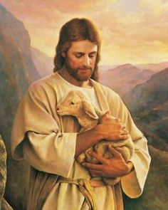 Jesus Christ with Lamb hand-painted oil painting, The Lost Lamb, Church Wall Artwork Decorations, Portrait of Man with animal x 36 in.) Home & Kitchen - Wall Art - Paintings Jesus Painting, Artist Painting, Art Paintings, Jesus Lamb, Pictures Of Jesus Christ, Jesus Christus, The Good Shepherd, Oil Painting Reproductions, Christen