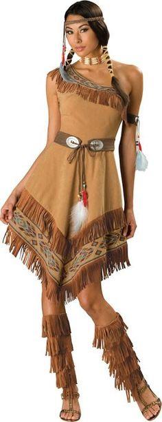 InCharacter Costumes, LLC Women's Indian Maiden Costume, Brown, Medium