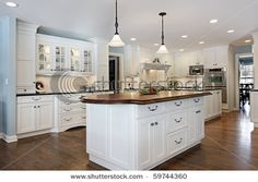 with butcher block instead on the island...this might be my dream kitchen!!!