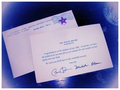 Its not every day that you get a note from President and Michelle Obama congratulating you on your adoption.  Today we did!  Want one for your child's scrapbook?