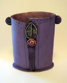 Purple Rosette Vase