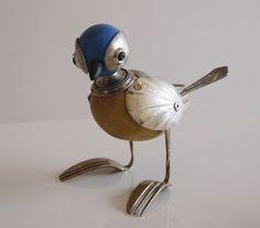 Dean Patman Welding Art Projects, Metal Art Projects, Arte Robot, Robot Art, Found Object Art, Found Art, Arte Assemblage, Steampunk Bird, Art Fil