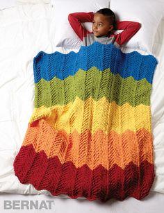 Rainbow Ripple Blanket