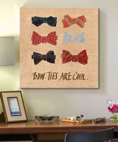 This Bow Ties Canvas Wall Art is perfect! #zulilyfinds