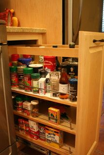 Under counter spice rack