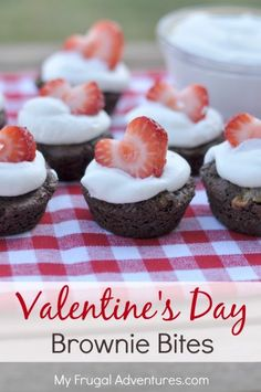 Valentine's Day Brownie Bites- so easy and delicious! Perfect for a class party.