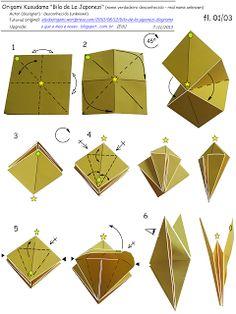 O QUE É MEU É NOSSO: Origami Kusudama - Bila de La Japonezi (Bola Japonesa)