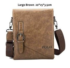 1c43b99695 VICUNA POLO Unique Buckle Design Irregular Cover Open Mens Messenger Bag  Small Man Bags