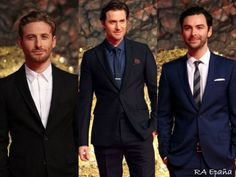 Keep your washboard abs - give me a man in a well-tailored suit any day. Dean O'Gorman, Richard Armitage & Aidan Turner.
