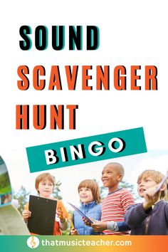 Scavenger hunt bingo with sounds! Get the kids outside and learning with this fun music activity. Elementary Music | Music Class Activity | Elementary Music Teacher | Music Game Elementary Music Lessons, Primary Lessons, Elementary Teacher, Student Learning Objectives, Music Education, Learning Music, Music Teachers, General Music Classroom, Music Lesson Plans