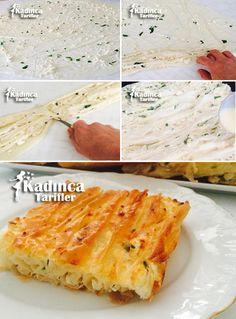 Peynirli Pileli Börek Tarifi Pastry Recipes, Cooking Recipes, Turkish Recipes, Ethnic Recipes, Arabic Food, Family Meals, Food Blogs, Dinner Recipes, Food And Drink