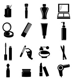 Cosmetic shapes vector icons