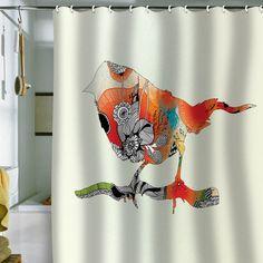 DENY Designs Home Accessories | Iveta Abolina Little Bird Shower Curtain on Wanelo