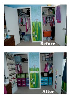 Kids bedroom closet reorganization.