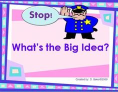 This powerpoint presentation will help your student understand how to identify main ideas and details.