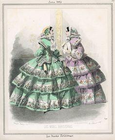 Les Modes Parisiennes;  June 1, 1856