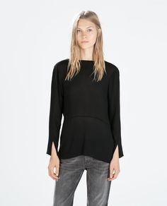2a0b9cb8c7c Image 1 of EMBELLISHED BLOUSE WITH V BACK from Zara Zara Women