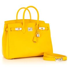 """The yellow color of this bag combined with its shape makes Caty Stampatto 14"""" the perfect summer choice."""