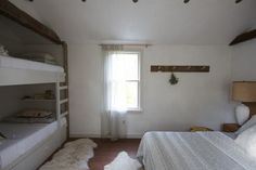Built-in bunk beds in a Catskills, NY, guesthouse by Jersey Ice Cream Co. | Remodelista