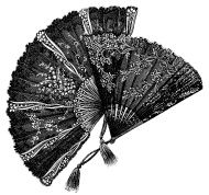 Fan inspired by the Victorian period