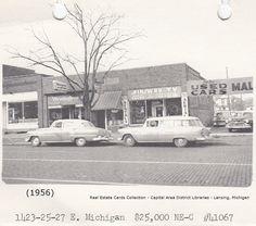 https://flic.kr/p/REPUko | Business block-1423-27 E. Michigan-real estate card photo-1956-11-05-Lansing, MI