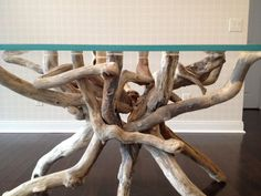 Driftwood Tangle Table Base for a glass top by benforgeydotcom, $2000.00