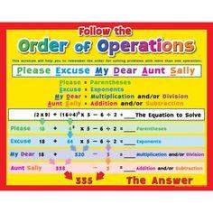 Order of Operations Poster My School Life, School Stuff, Math Helper, Math Cheat Sheet, Math Properties, Math Literature, Grade 6 Math, Fourth Grade, Math Poster