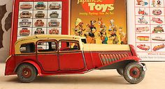 Antique Wells 1938 Citroen Rosali Limousine England Mettoy Bing Distler Tin Car