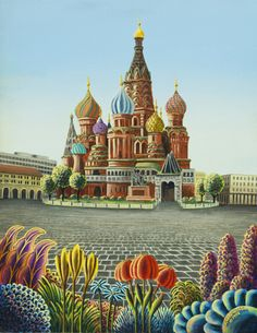St. Basil Cathedral in Russia ~ by Andy Russell