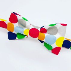 Colorful Polka Dot Bow Tie for Men Polka Dot Bow Tie, Polka Dots, Colorful, Bow Ties, Trending Outfits, Unique Jewelry, Handmade Gifts, Fun, Kids