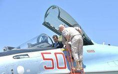 Hmeymim, Syria President Bashar al-Assad visits a Russian air base