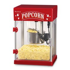 Bring a piece of the big screen to your home with this classic theater popper. Designed to look just like the movie theater machines, this compact popcorn maker is the perfect piece for hosting a movie night in the comfort of your own home.