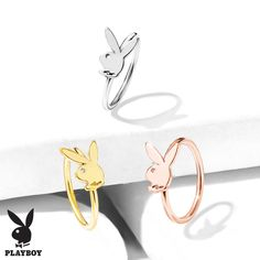 Spade Inspiration Dezigns Card Suit Symbols with Playboy Bunny 316L Surgical Steel Cartilage//Tragus Barbell