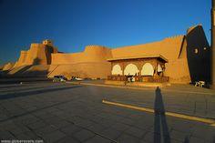 Old city walls, Khiva, UZBEKISTAN