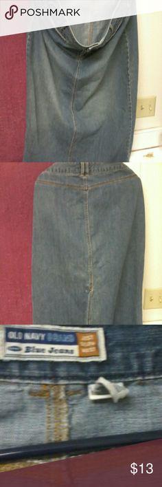 Size 18 Old Navy Long Jean Skirt Vintage Sits