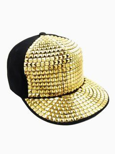 Studded Snapback I Want! Pictures Of Hats, Chelsea Doll, Gold Hats, Costume Hats, Costumes, Hip Hop Hat, Quilted Vest, Scarf Hat, Create And Craft