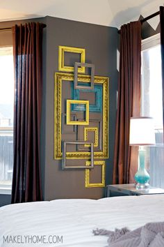 Frame wall - love the color combo