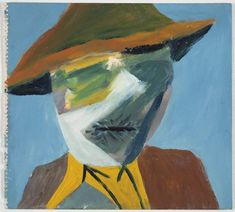 An image of Farmer, Dimboola by Sidney Nolan Australian Painting, Australian Artists, Sidney Nolan, Colors And Emotions, Aboriginal Art, Art Lessons, Farmer, Art Gallery, Portrait Paintings