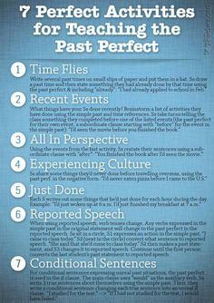 7 activities for teaching the past perfect