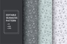 The package is high quality original hand drawn vintage floral pattern set. This pattern is suitable for print, packaging, gift. Business Brochure, Business Card Logo, Creative Sketches, Graphic Patterns, Pencil Illustration, Paint Markers, Repeating Patterns, Vintage Floral, Free Design