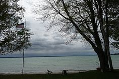 Mullett Lake, Michigan... I go here every year to camp with my family!!!