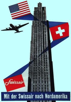 Decor-Travel-POSTER-SWISS-Air-US-Flag-Home-Wall-Art-Room-Interior-design-674
