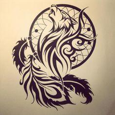 tribal wolf by *dirtfinger on deviantART