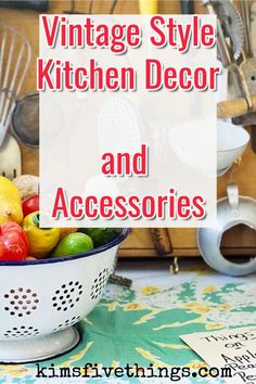 Traditional Home Decor How to do a retro kitchen. Stunning vintage kitchen ideas on a budget. old fashioned kitchens ideas and inspiration. Best vintage kitchen decor and accessories. Trendy Home Decor, Retro Home Decor, Easy Home Decor, Luxury Home Decor, Cheap Home Decor, Budget Kitchen Remodel, Kitchen On A Budget, Kitchen Ideas, Vintage Kitchen Accessories