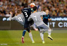 News Photo : Karim Benzema scoring a goal during the...