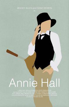 """Affiche du film """"Annie Hall"""" de Woody Allen en 19977 avec l'actrice Diane Keaton. Elle a choisi elle-même ces vêtements. Son style est masculin."""